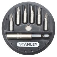 Биты Stanley Sl, Ph, Pz 7шт. + магнитный держатель