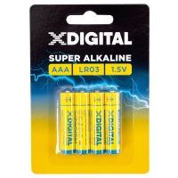 Купить Батарейка X-DIGITAL LR 03 - LR03-4B