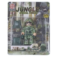 Купить Конструктор Space Baby Jungle special forces фигурка и аксессуары 6 видов - SB1022