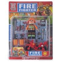 Купить Конструктор Space Baby Fire фигурка с байком и аксессуары 6 видов - SB1031