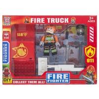 Купить Конструктор Space Baby Fire truck фигурка с авто и аксессуары 3 вида - SB1030