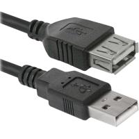 Купить Кабель DEFENDER (87453)USB02-10 USB2.0 AM-AF, 3м, пакет - 87453