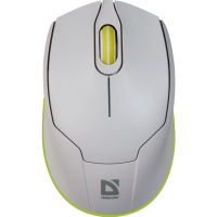 Купить Мышь DEFENDER (52867)Genesis MB-865 белый+зеленый, 1600 dpi - 52867