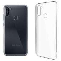 Купить Чехол для сматф. GLOBAL Case (TPU) Extra Slim для Samsung M11 (светлый) - 1283126503627