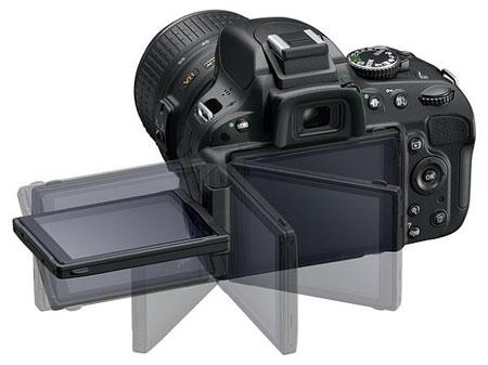 Цифровая зеркальная фотокамера Nikon D5100 (поворотный дисплей)